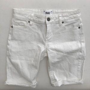 PAIGE white Denim Cut off Shorts size 26